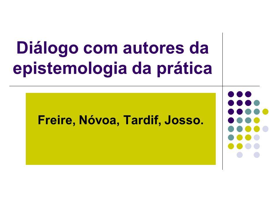 Diálogo com autores da epistemologia da prática