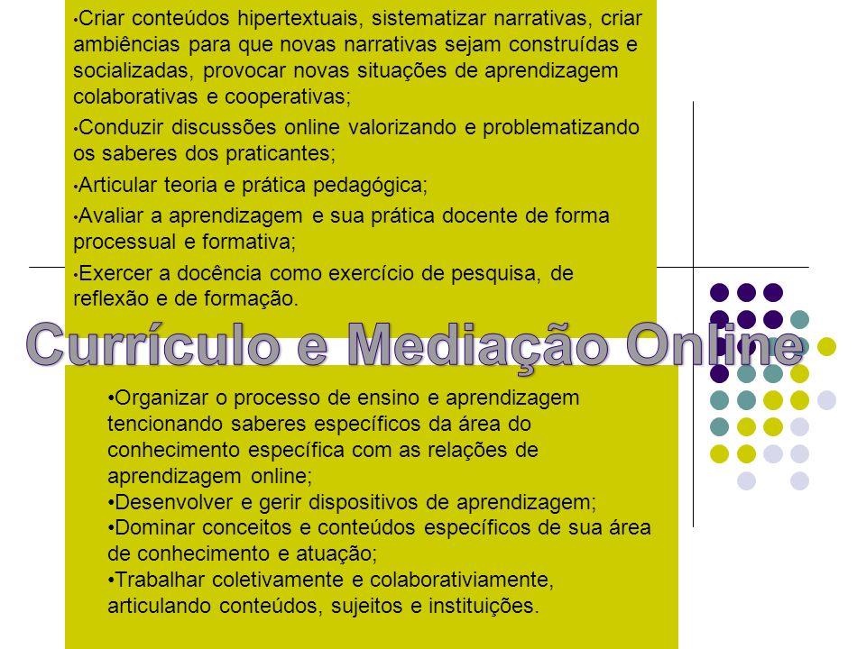 Currículo e Mediação Online