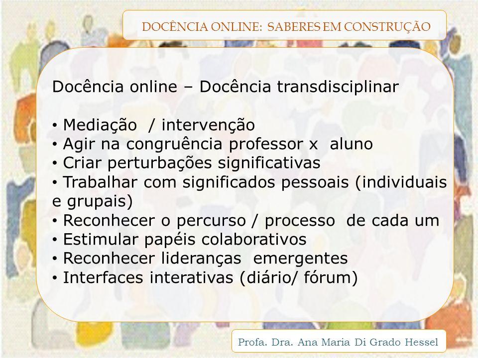 Docência online – Docência transdisciplinar