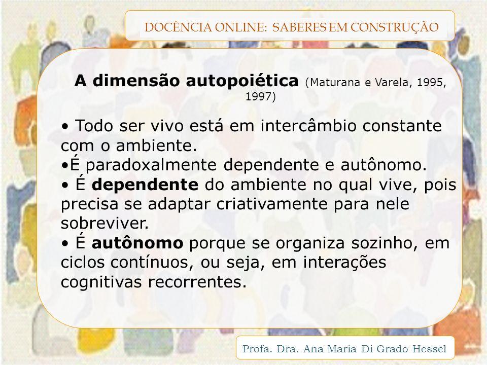 A dimensão autopoiética (Maturana e Varela, 1995, 1997)