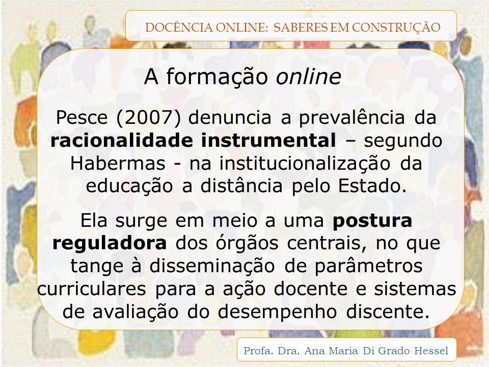 A formação online