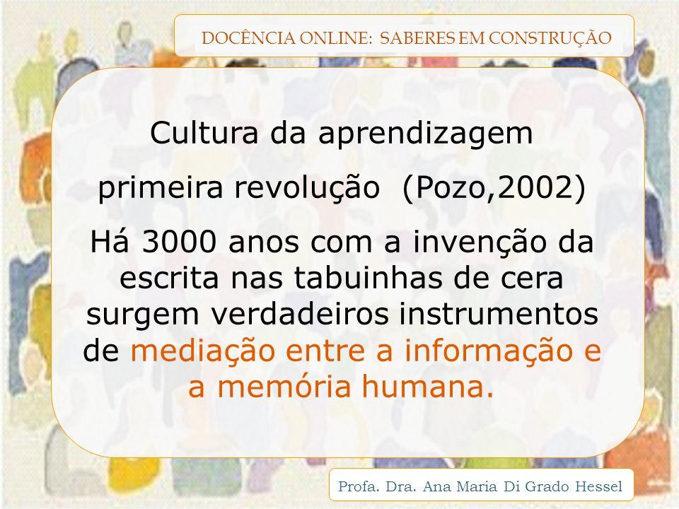 Cultura da aprendizagem primeira revolução (Pozo,2002)