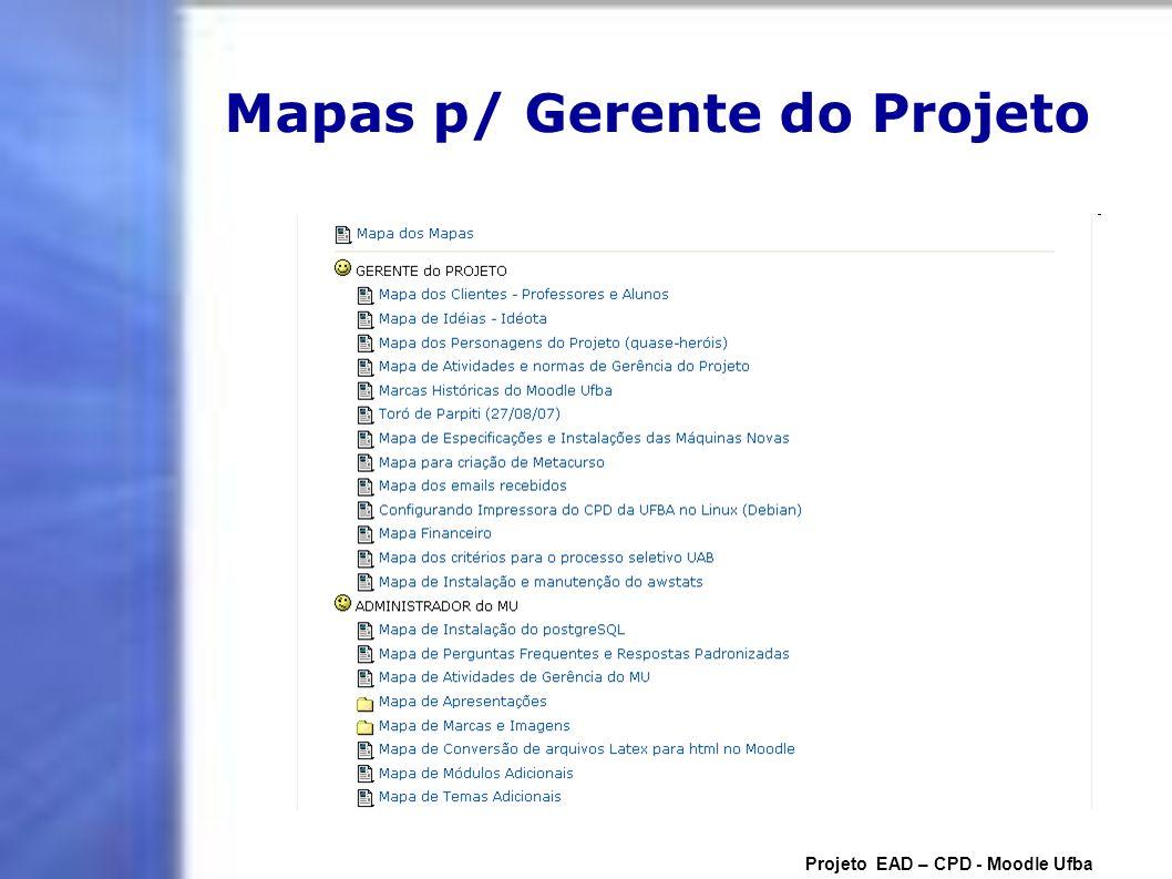 Mapas p/ Gerente do Projeto