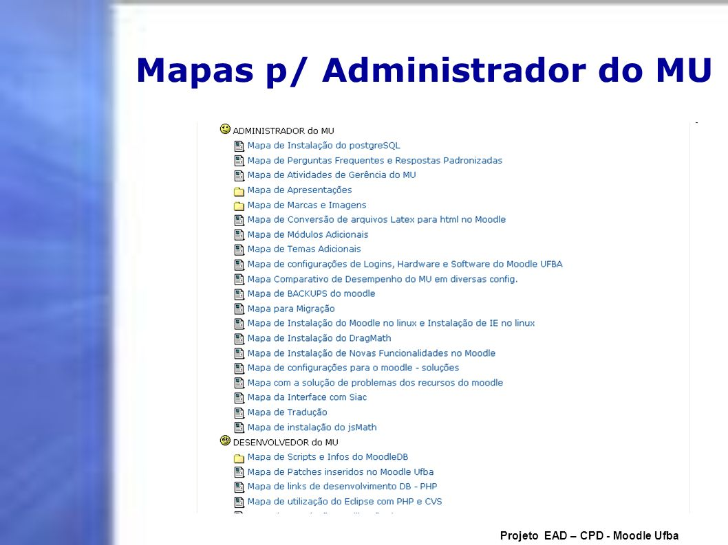 Mapas p/ Administrador do MU