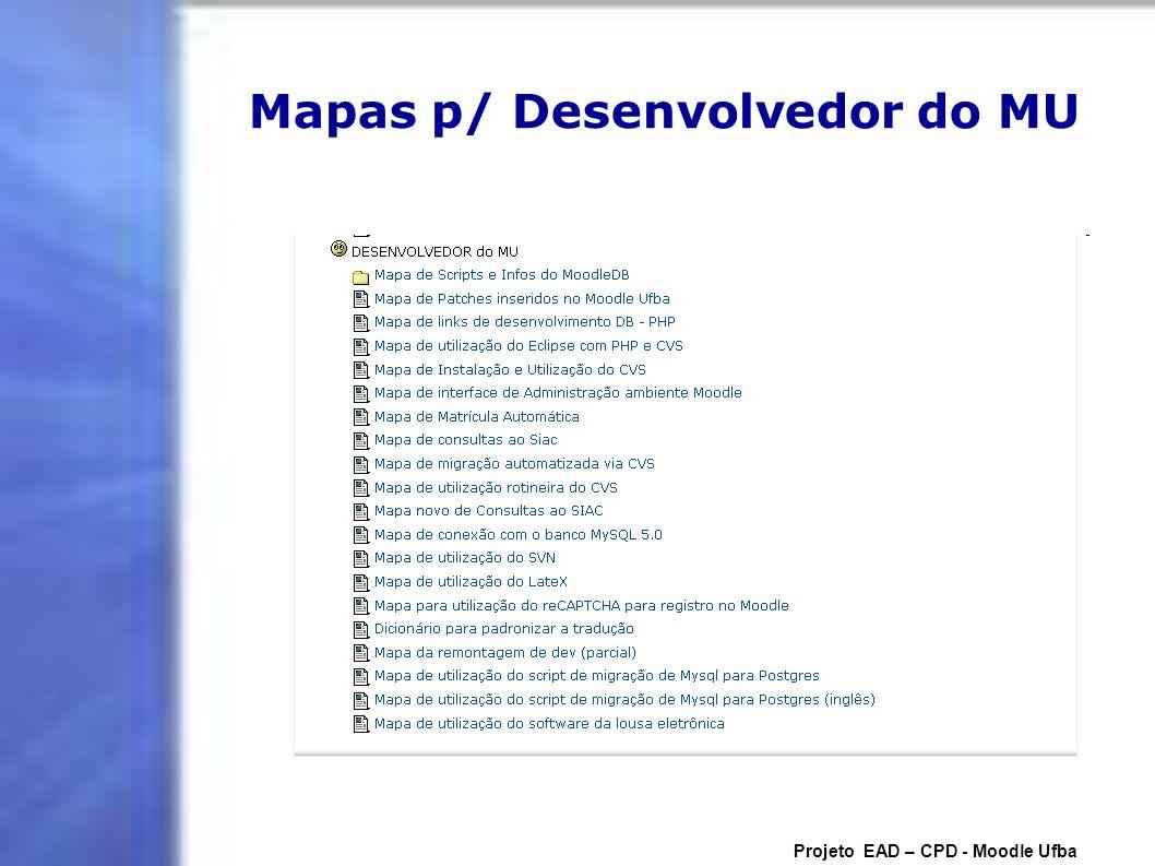 Mapas p/ Desenvolvedor do MU