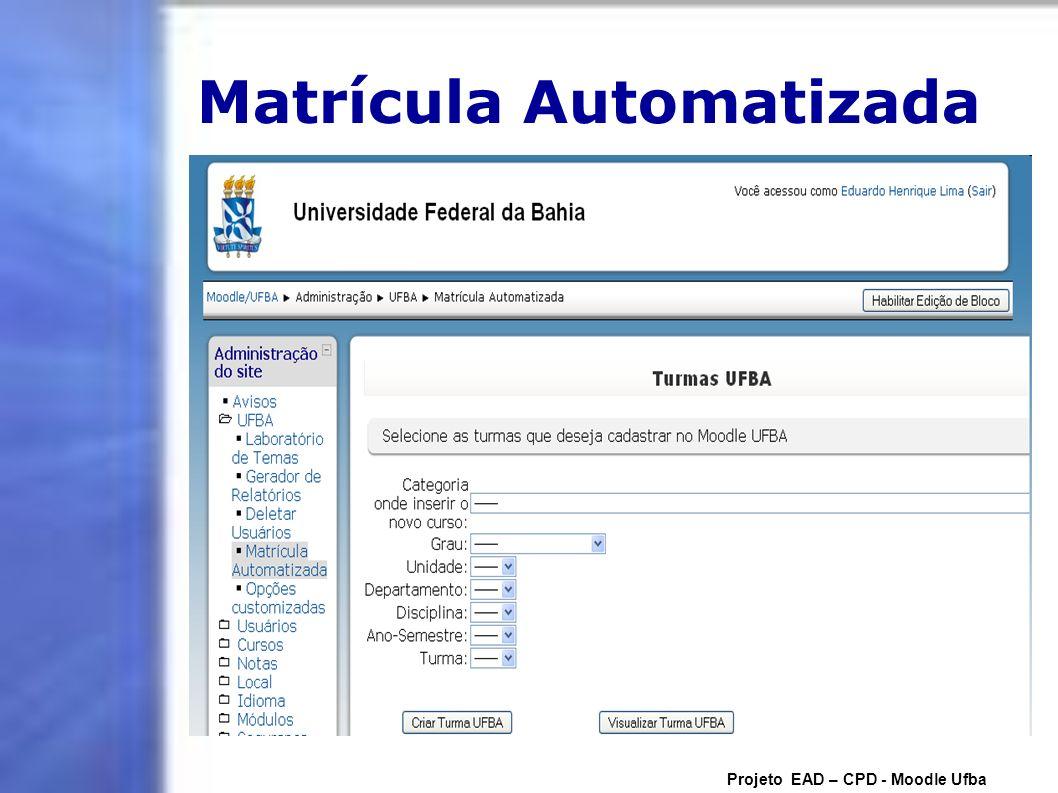 Matrícula Automatizada