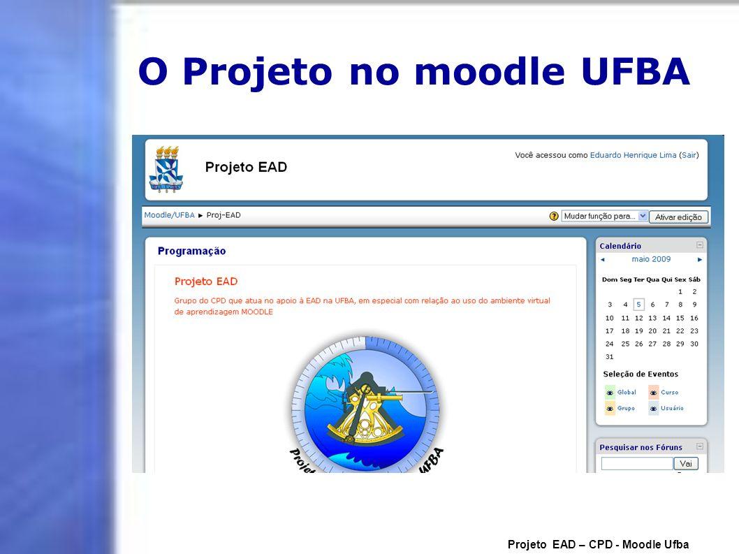 O Projeto no moodle UFBA