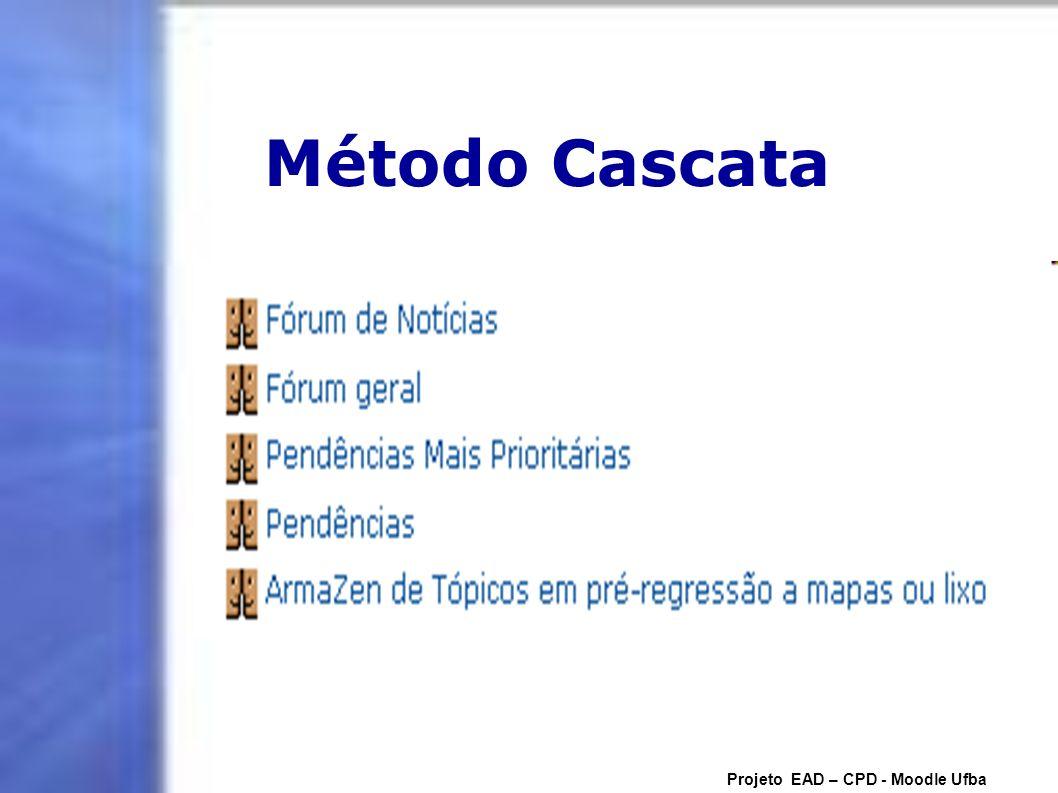 Método Cascata Projeto EAD – CPD - Moodle Ufba