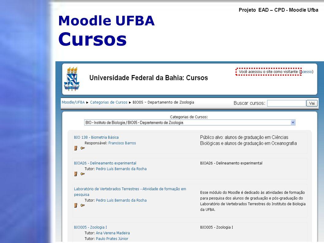 Projeto EAD – CPD - Moodle Ufba