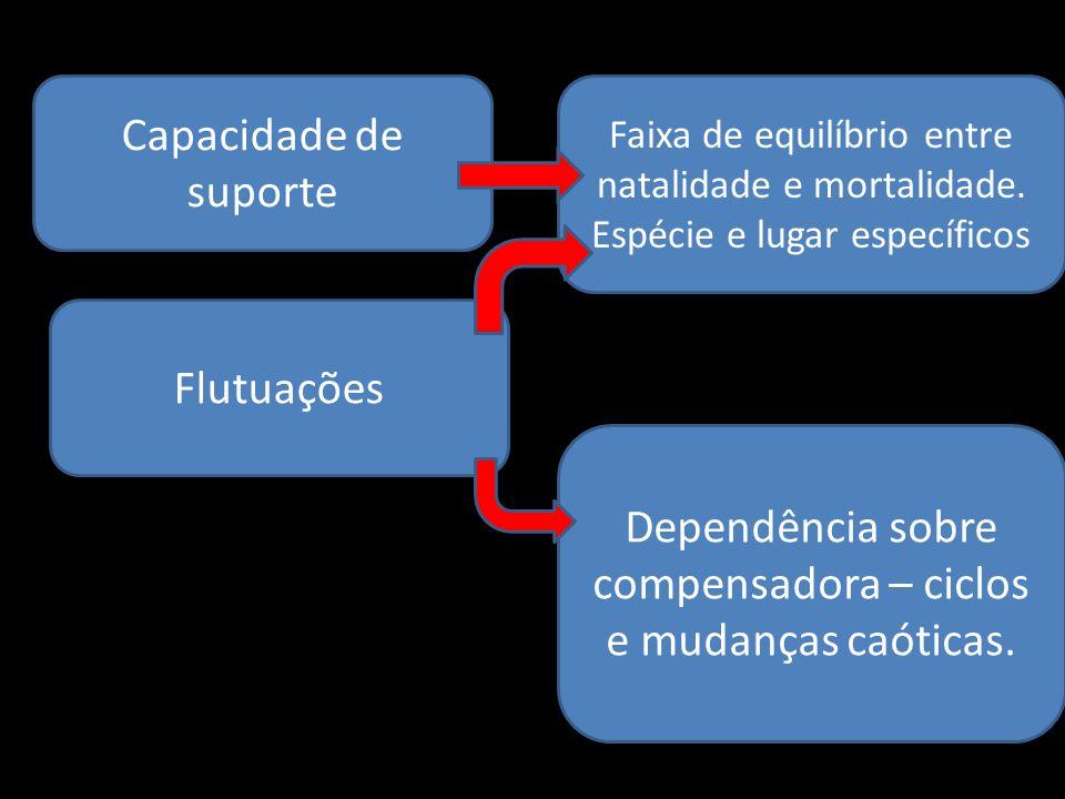 Dependência sobre compensadora – ciclos e mudanças caóticas.