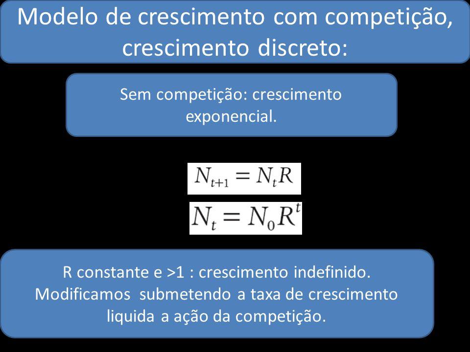 Modelo de crescimento com competição, crescimento discreto: