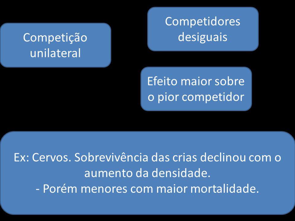 Competidores desiguais Competição unilateral