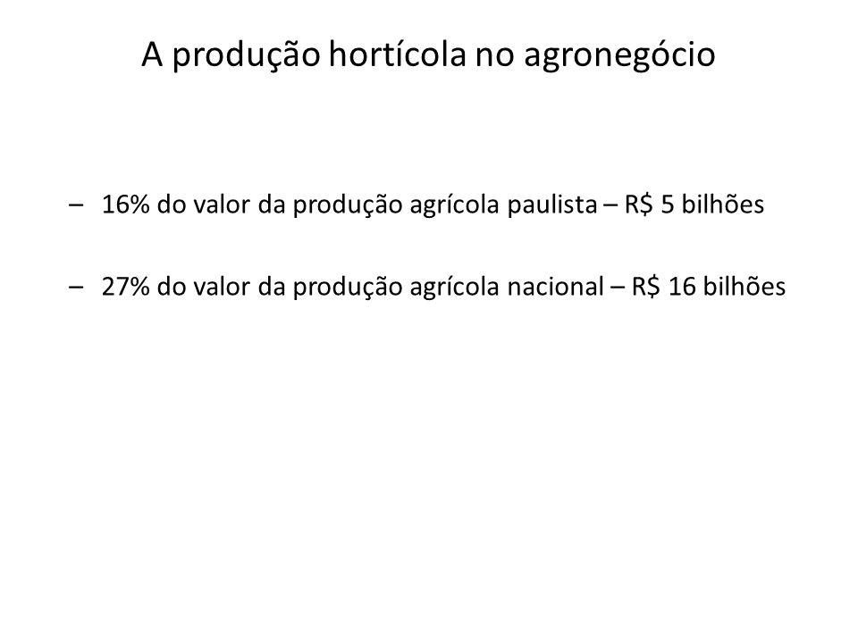 A produção hortícola no agronegócio
