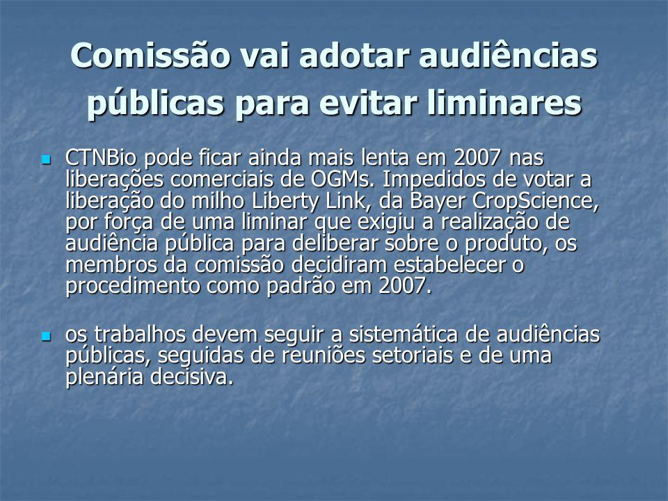 Comissão vai adotar audiências públicas para evitar liminares