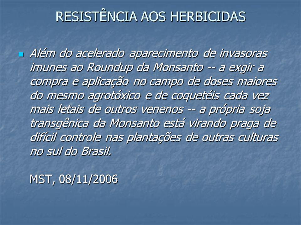 RESISTÊNCIA AOS HERBICIDAS