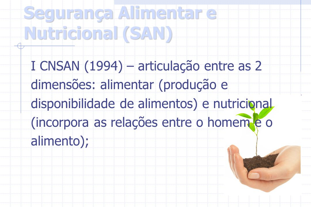 Segurança Alimentar e Nutricional (SAN)