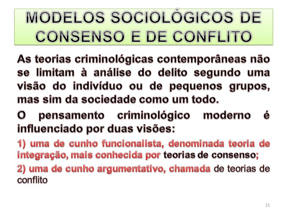 MODELOS SOCIOLÓGICOS DE CONSENSO E DE CONFLITO