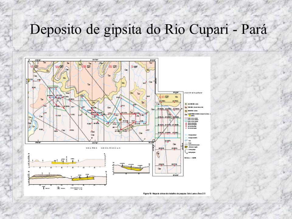 Deposito de gipsita do Rio Cupari - Pará