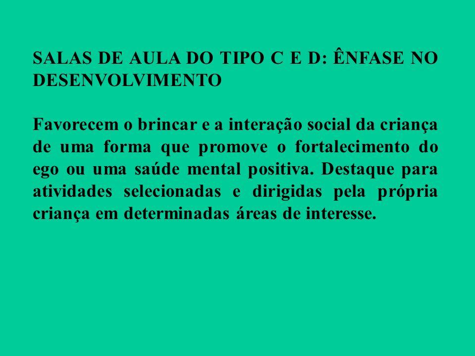 SALAS DE AULA DO TIPO C E D: ÊNFASE NO DESENVOLVIMENTO