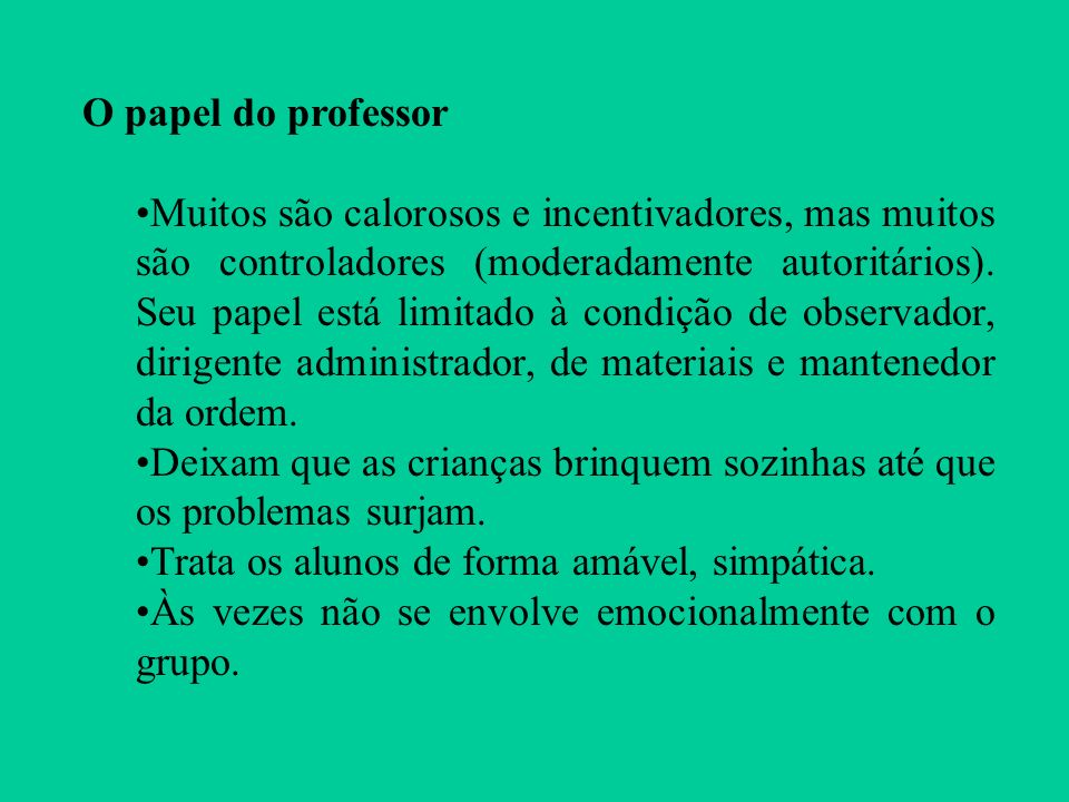 O papel do professor