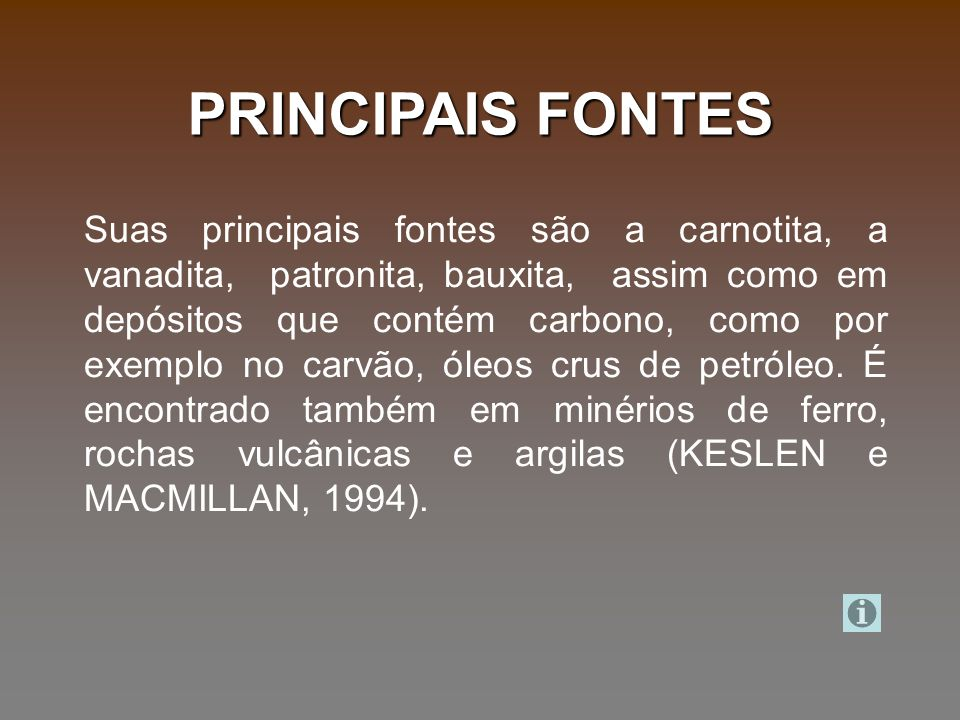 PRINCIPAIS FONTES