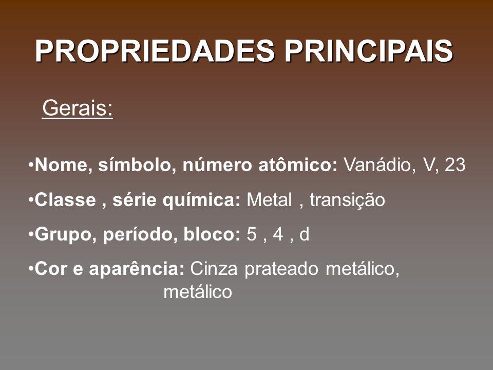 PROPRIEDADES PRINCIPAIS
