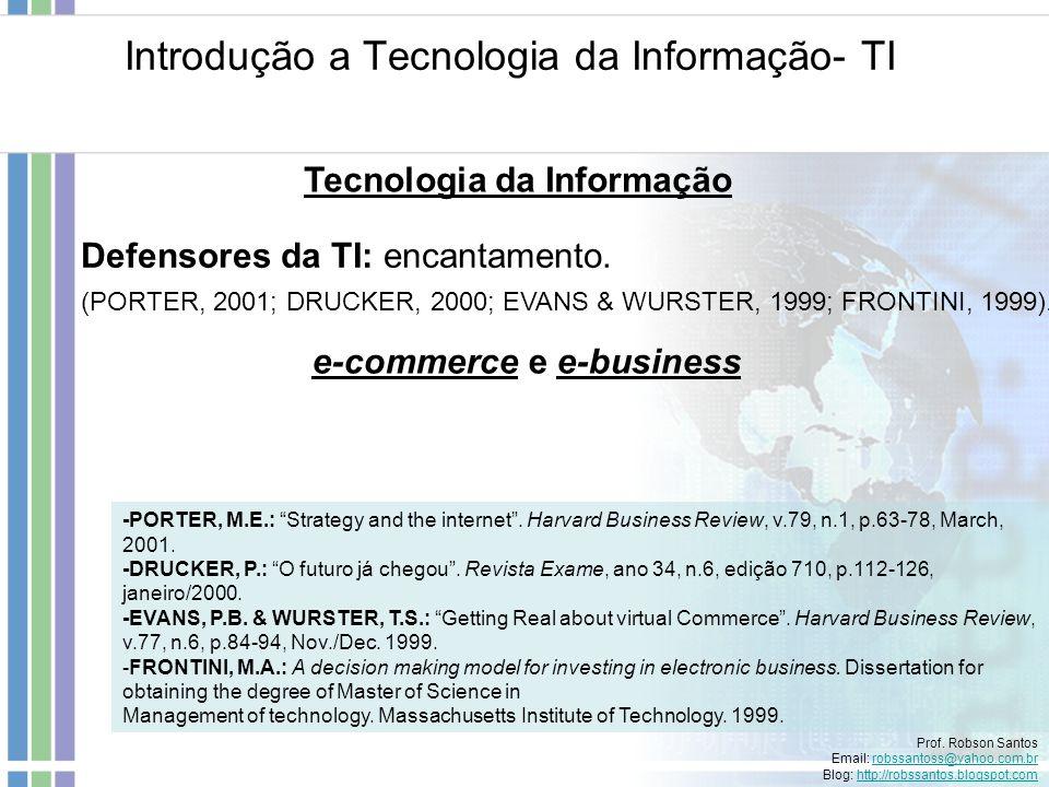Introdução a Tecnologia da Informação- TI