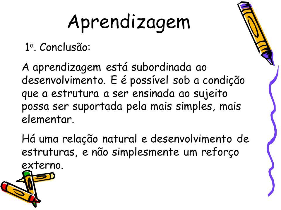 Aprendizagem 1a. Conclusão: