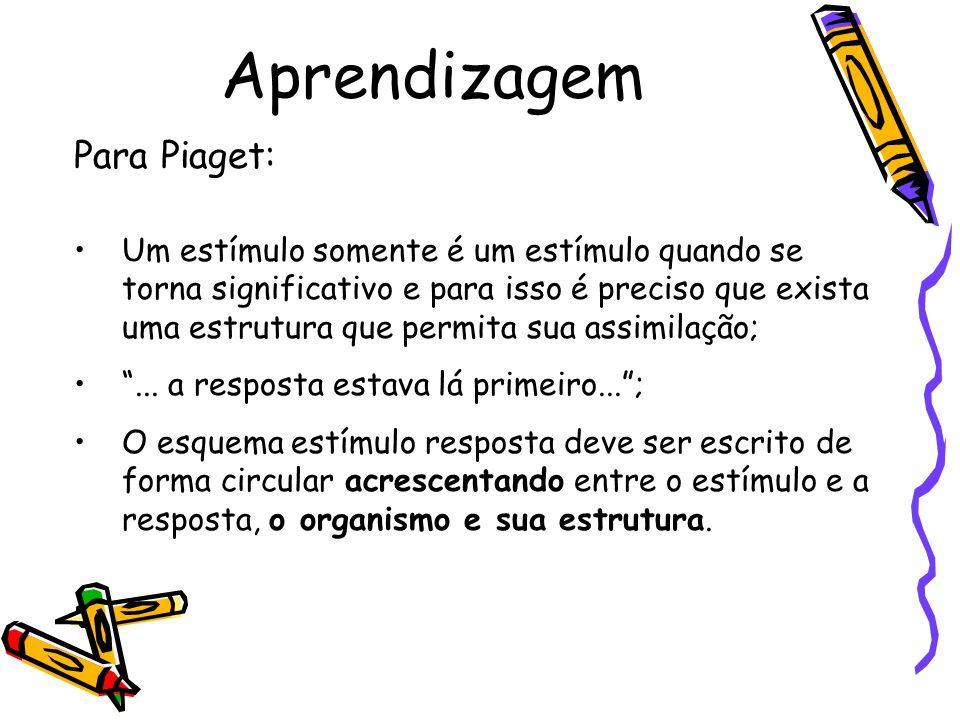 Aprendizagem Para Piaget: