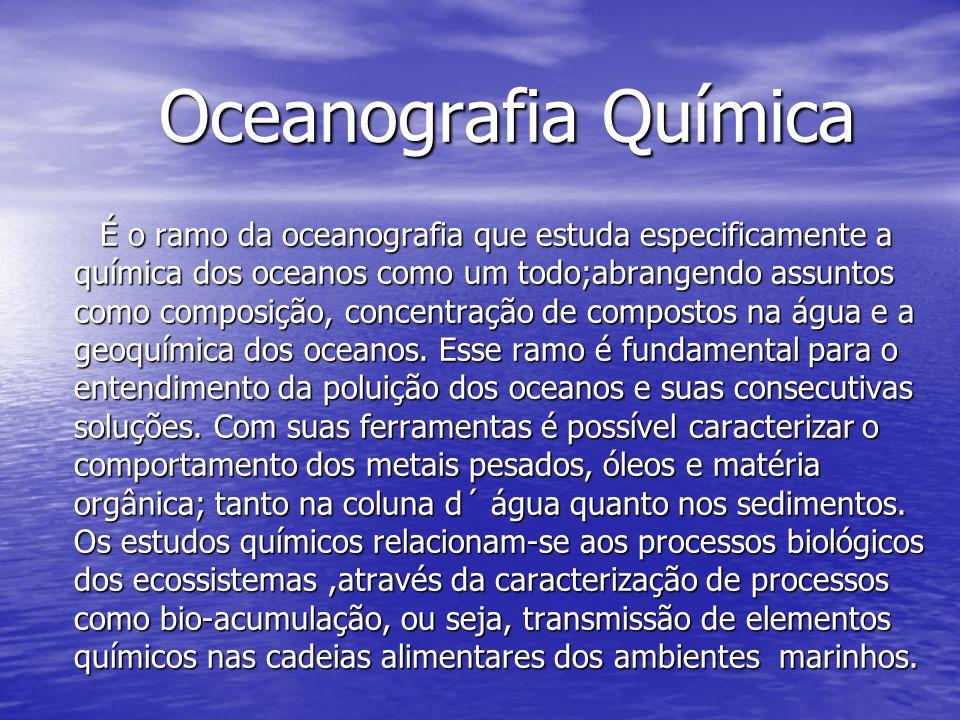 Oceanografia Química