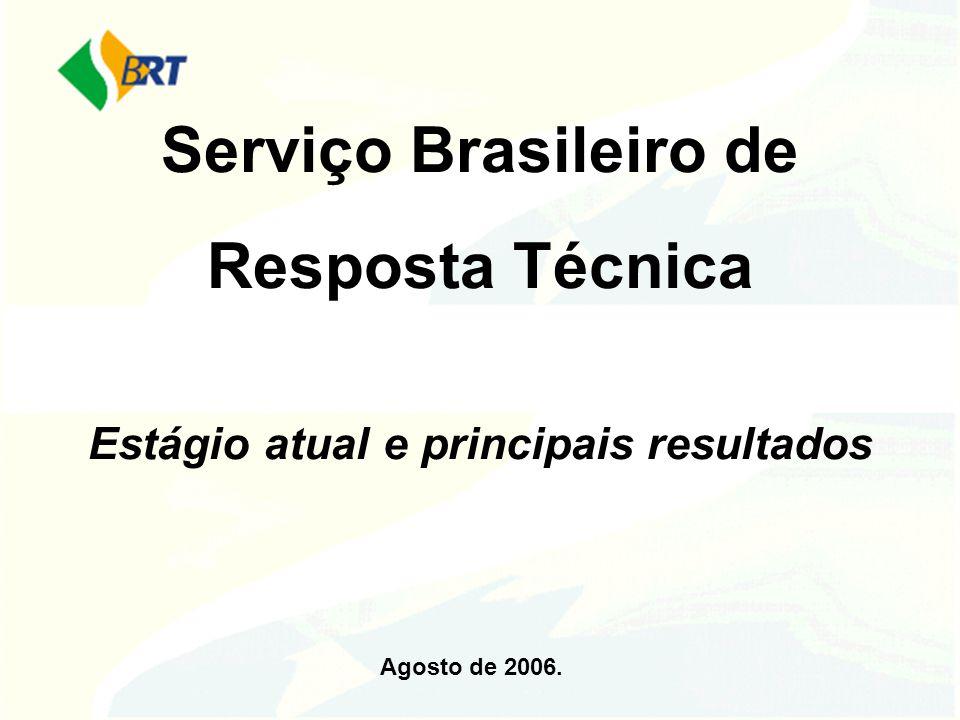 Serviço Brasileiro de Resposta Técnica Estágio atual e principais resultados