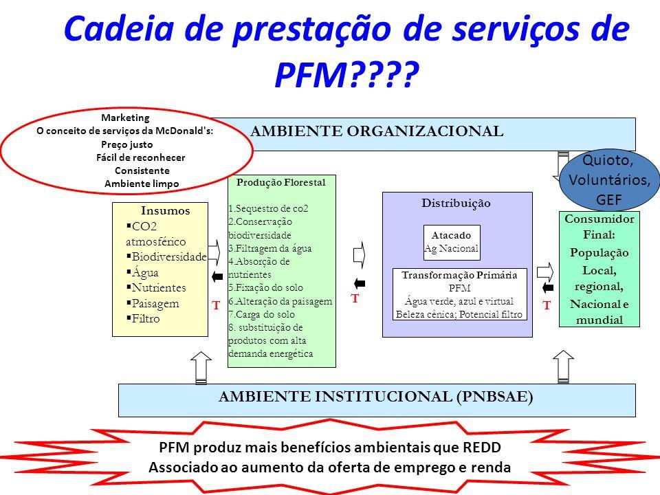 Cadeia de prestação de serviços de PFM