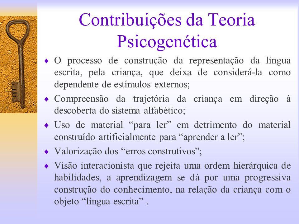 Contribuições da Teoria Psicogenética