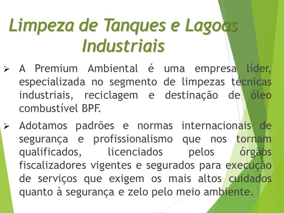 Limpeza de Tanques e Lagoas Industriais