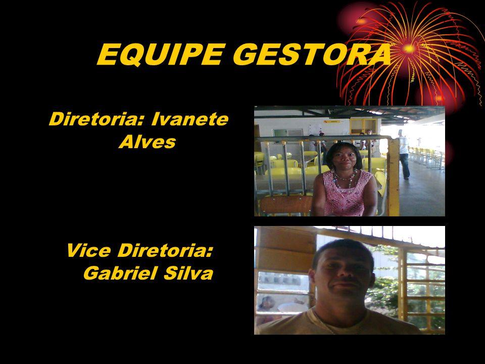 EQUIPE GESTORA Diretoria: Ivanete Alves Vice Diretoria: Gabriel Silva