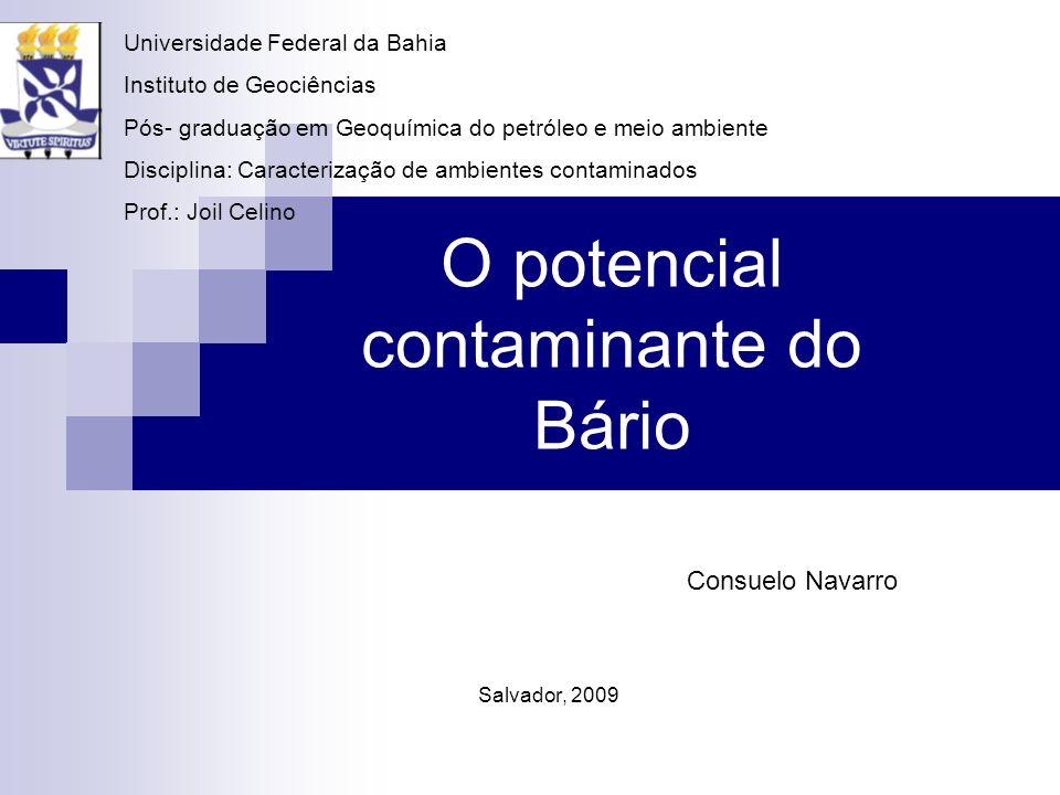 O potencial contaminante do Bário
