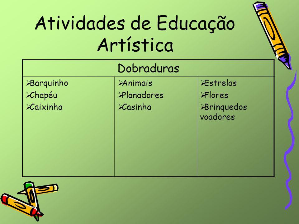 Atividades de Educação Artística