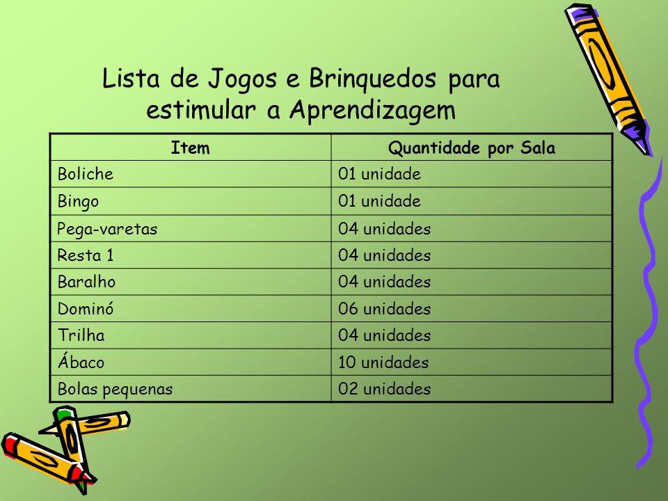 Lista de Jogos e Brinquedos para estimular a Aprendizagem