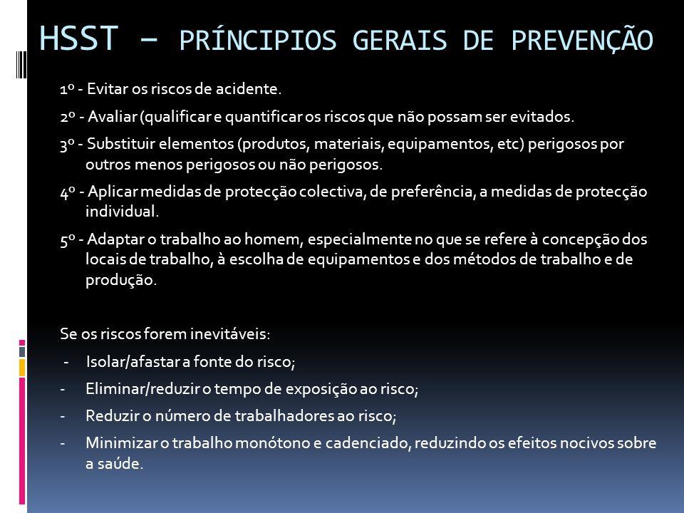 HSST – PRÍNCIPIOS GERAIS DE PREVENÇÃO