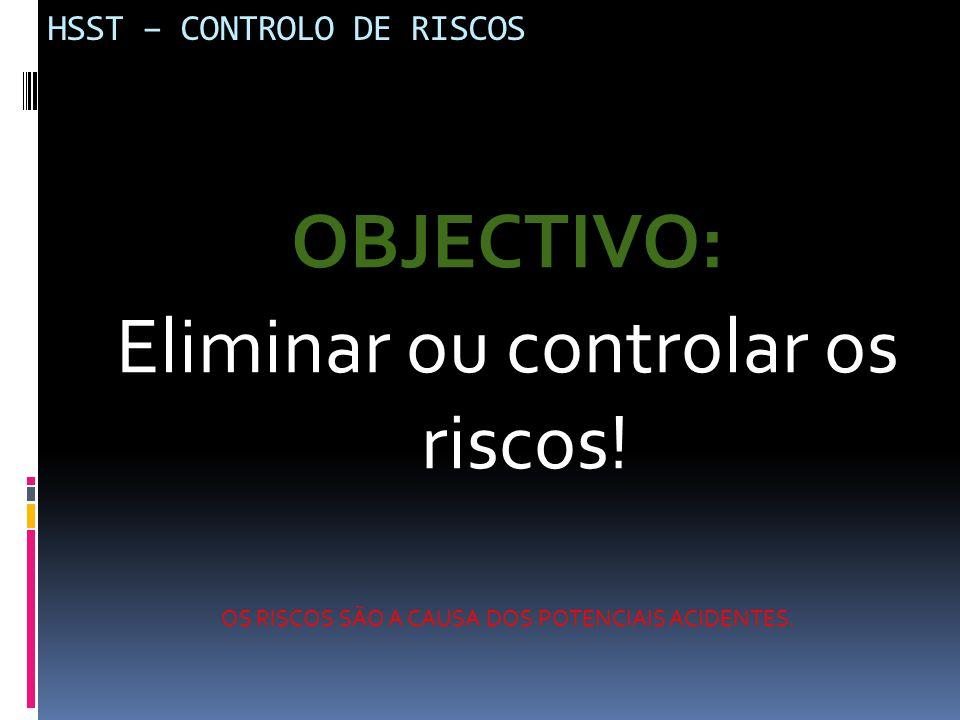HSST – CONTROLO DE RISCOS