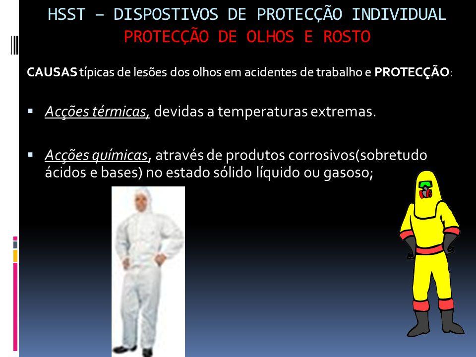 HSST – DISPOSTIVOS DE PROTECÇÃO INDIVIDUAL PROTECÇÃO DE OLHOS E ROSTO