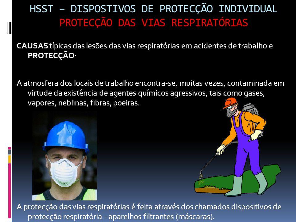 HSST – DISPOSTIVOS DE PROTECÇÃO INDIVIDUAL PROTECÇÃO DAS VIAS RESPIRATÓRIAS