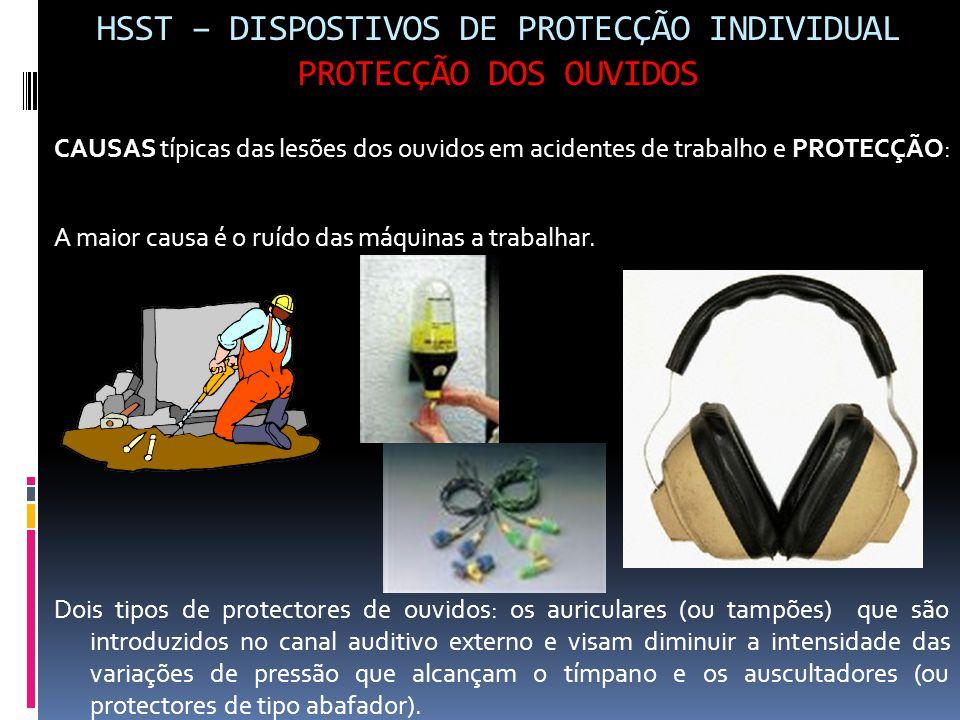 HSST – DISPOSTIVOS DE PROTECÇÃO INDIVIDUAL PROTECÇÃO DOS OUVIDOS