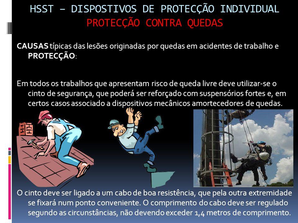 HSST – DISPOSTIVOS DE PROTECÇÃO INDIVIDUAL PROTECÇÃO CONTRA QUEDAS