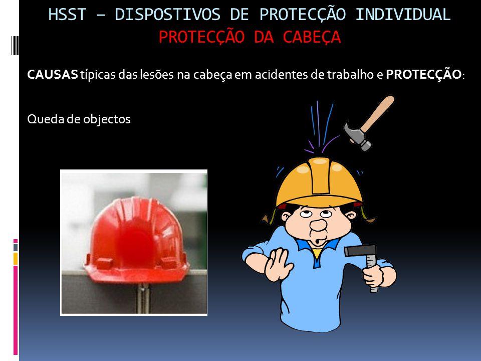 HSST – DISPOSTIVOS DE PROTECÇÃO INDIVIDUAL PROTECÇÃO DA CABEÇA