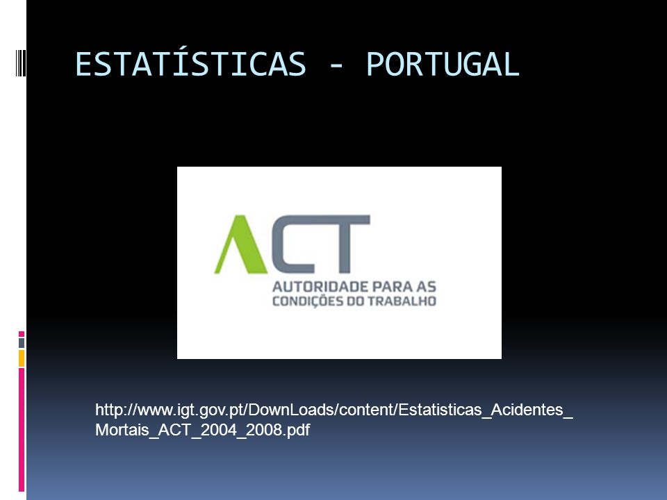 ESTATÍSTICAS - PORTUGAL