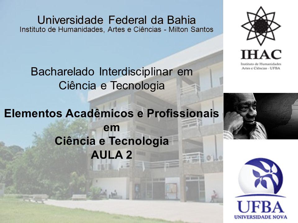 Elementos Acadêmicos e Profissionais em Ciência e Tecnologia
