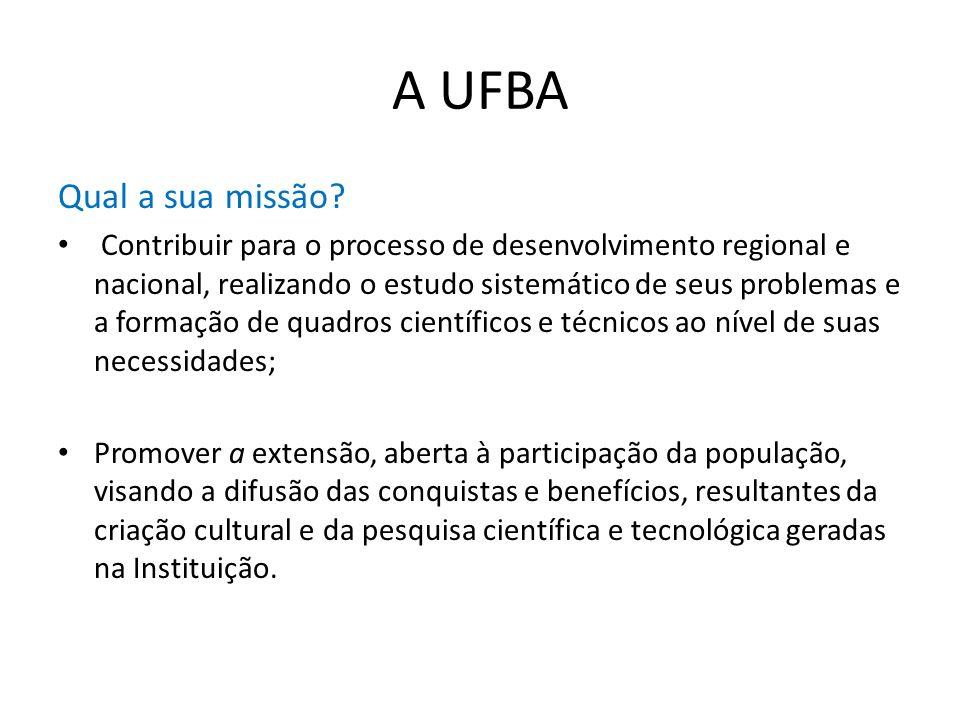 A UFBA Qual a sua missão