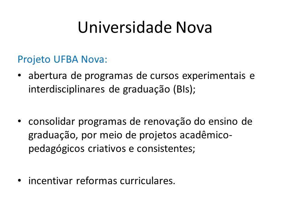 Universidade Nova Projeto UFBA Nova: