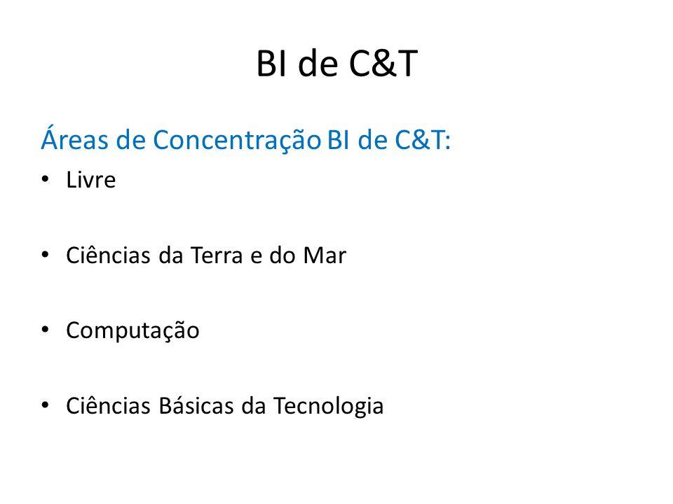 BI de C&T Áreas de Concentração BI de C&T: Livre